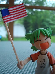 """""""The land of the FLEA and the home of the BRAVE"""" (Dreaming Magpie) Tags: green girl japan out toy japanese memorial doll picnic day action flag manga cook wave plastic american figure clover celebrate yotsuba"""