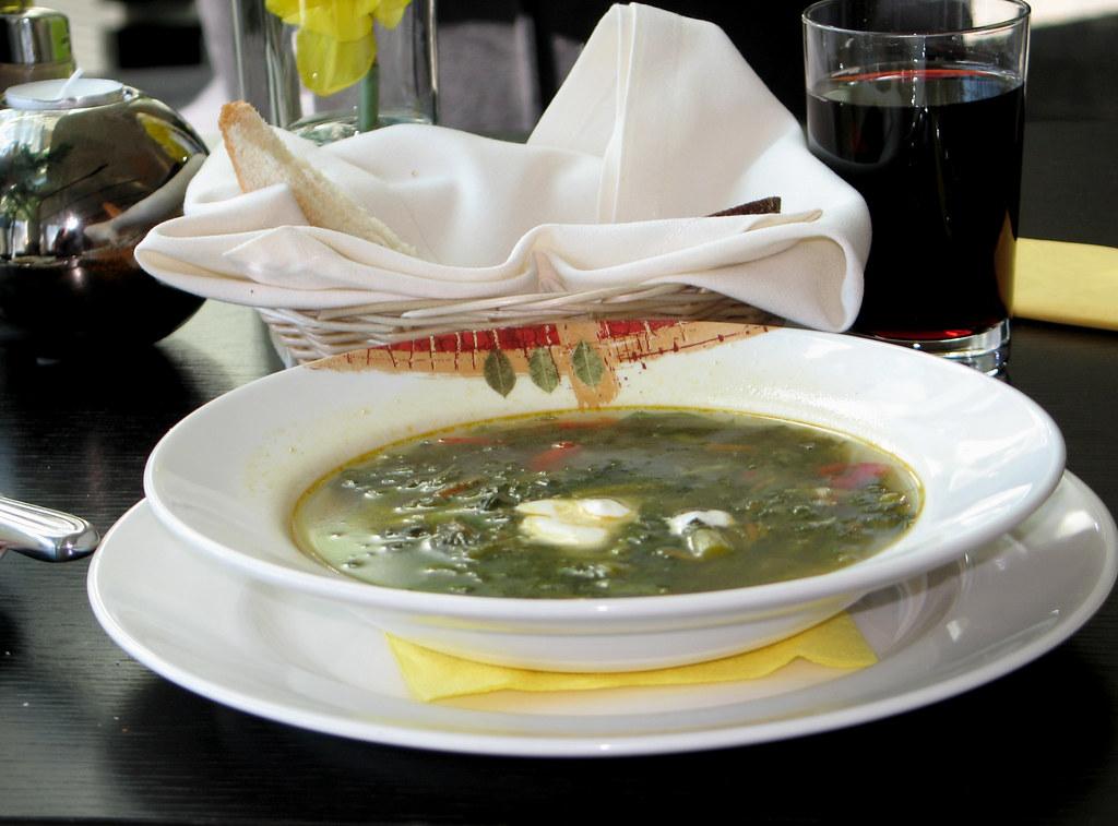 Asparagas soup - Elefant Hotel, Riga, Latvia.