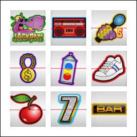 free HipHopopotamus slot game symbols