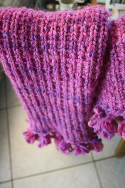 Gigantic pink scarf — finished!