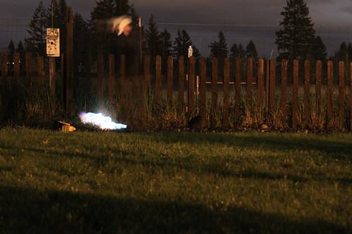 weed torch at night