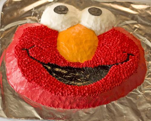 The Elmo Cake
