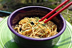 Maple sesame sob noodles