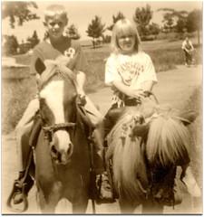 Old Family Photos - ponies (LarrynJill) Tags: birthday party bikepath kids oregon heidi kurt eugene ponies picnik oldfamilyphotos liedtke