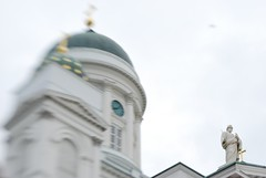 (vestman) Tags: glass lensbaby finland helsinki cathedral experiment double composer senaatintori tuomiokirkko optic d40x