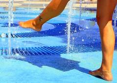 caminando sobre agua