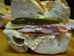 Cuban Sandwich before being cooked