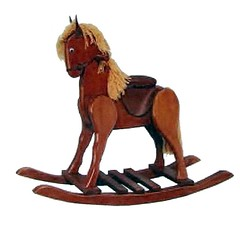 Hand-made Wooden Rocking Horse