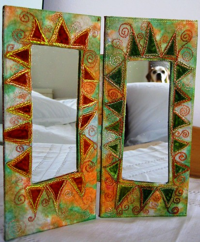 Finished folding mirror.