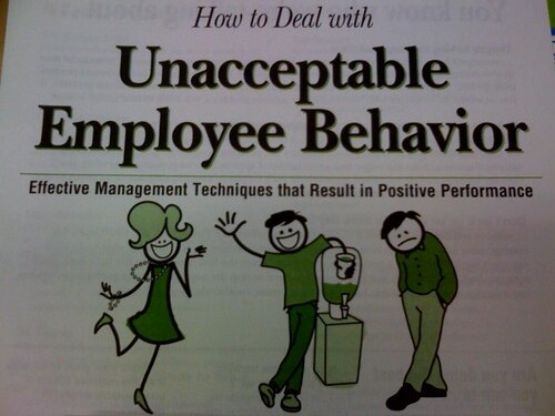 How to deal with unacceptable employee behavior