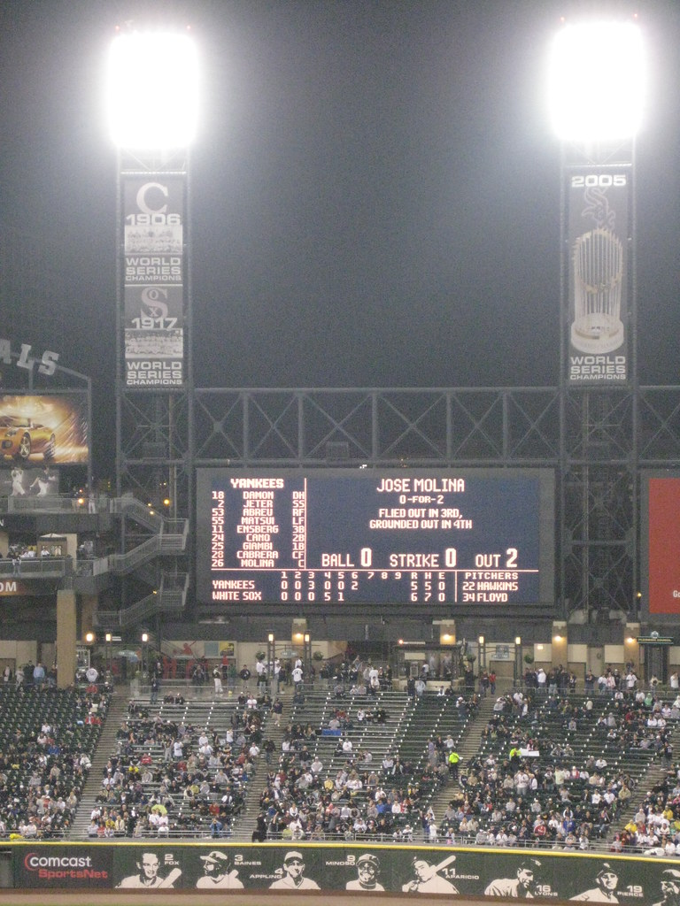 Score Board At US Cellular Field - Comisky Park II