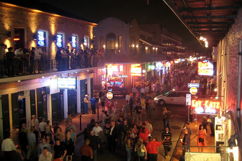 New Orleans - French Quarter - Bourbon Street at Night