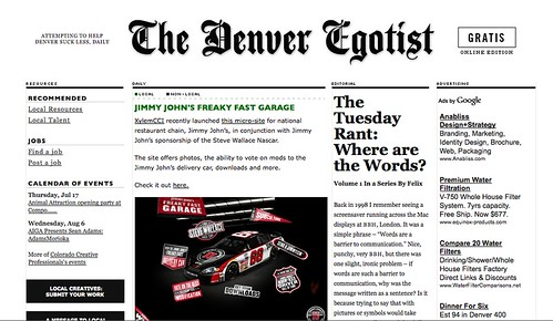 Denver Egotist Jimmy Johns
