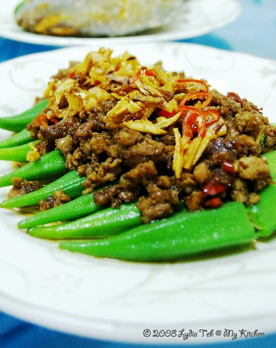 Okra with Salted Fish & Mince