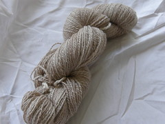 Natural dyed handspun BFL