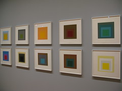 Josef Albers 'Homage To The Square: Ten Works by Josef Albers' (scarydan) Tags: new york nyc newyork color colour art colors museum square artwork gallery colours box joy shapes moma full museumofmodernart josef ten boxes boxed shape homage reserved aura thaw albers artworks patina nested tenuous shielded equivocal josefalbers homagetothesquare tenworksbyjosefalbers widelight