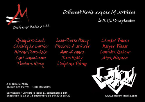 My first exhibition in Brussels in September 2008