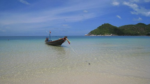 Thai longboat on Thong Nai Pan Noi