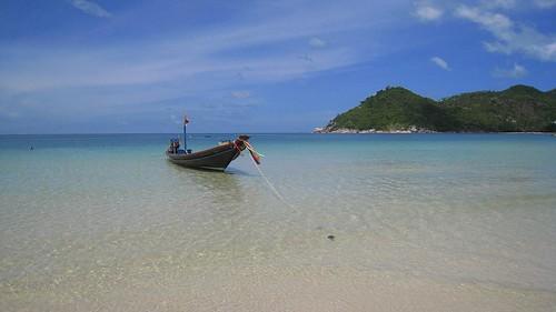 Thai longboat on Thong Nai Pan Noi