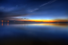 Deep into the blues (vedd) Tags: longexposure sunset seascape canon eos malaysia bluehour hdr portdickson 9xp 400d vedd
