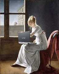 Young Woman Blogging, after Marie-Denise Villers (Mike Licht, NotionsCapital.com) Tags: art women humor computers blogs bloggers blogging laptops mariedenisevillers arthumor mikelicht notionscapitalcom
