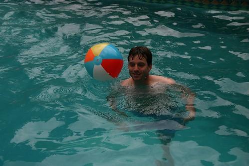 Josh in Branine's pool