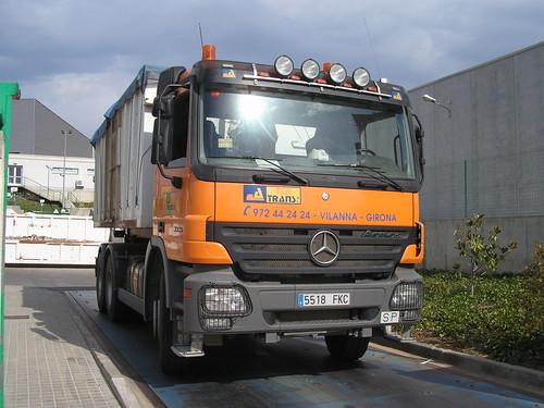 Mercedes Benz de l'empresa TER-TRANS a Blanes (Girona)