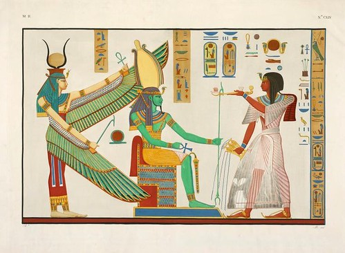 05- Ramses IV realizando ofrendas a Osiris y a Isis