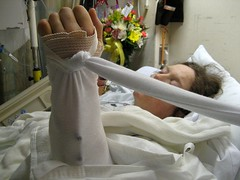 recovering (MTSOfan) Tags: hospital bed arm surgery elevated anesthesia poconomedicalcenter backinherroom