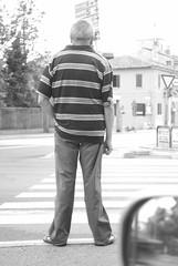 L'attesa / Waiting (Luigi Rosa has moved to Ipernity) Tags: city people urban blackandwhite bw italy white black person persona back italia bn bianco lombardia nero citta pavia dietro boanconero