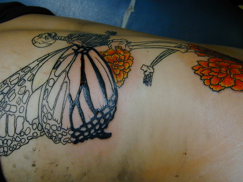 Tattoo. Tatuaje Calavera de Mariposa
