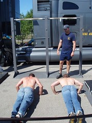Kevin and Dave at the Navy Seals Challange