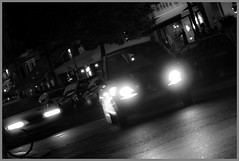 Cruisin' (perosaargentina) Tags: auto light bw black berlin luci nero blackdiamond blueribbonwinner passionphotography abigfave anawesomeshot blackwhiteaward brillianteyejewel