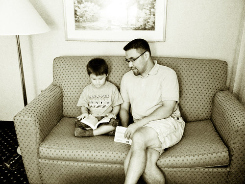 "reading ""Harry Potter Loses a Tooth"" to dad"