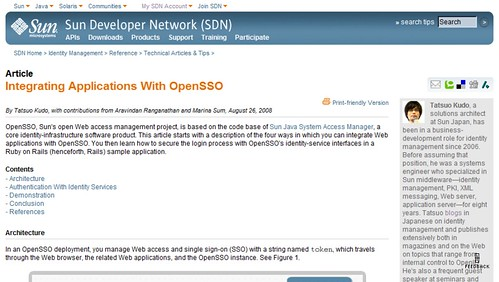 Integrating Applications With OpenSSO