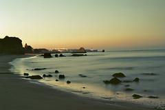 (loligense) Tags: sea beach portugal sunrise 50mm nikon f3 algarve nikkor portimao lptwilight