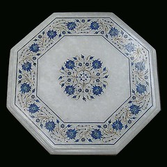 Marble inlay (Ursula in Aus) Tags: india square pattern agra carving marble inlay uttarpradesh earthasia famoussquarecaptures