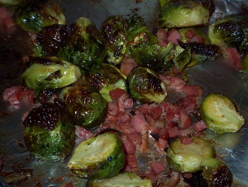 pancetta brussel sprouts roasted