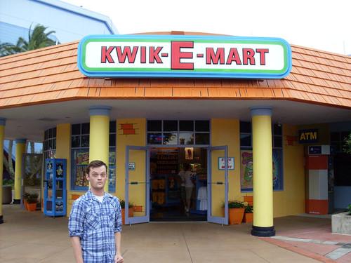 Jeff outside the Kwik-E-Mart by Kablamo.
