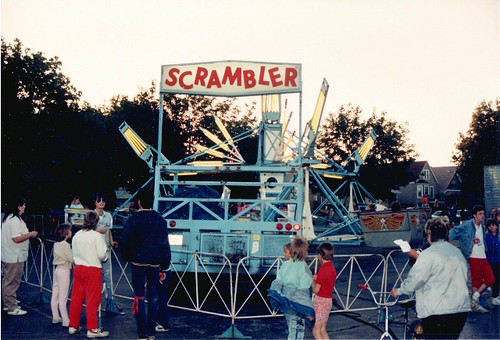 Saint Clair of Montifalco Catholic Parish annual summer carnival. Chicago Illinois. June 1988. by Eddie from Chicago