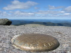 Algonquin survey marker, 5114 ft