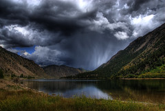 Thunder in the Rockies (Thad Roan - Bridgepix) Tags: autumn summer lake storm mountains reflection fall nature water grass rain weather clouds landscape rockies gold colorado searchthebest georgetown foliage explore evergreen valley thunderstorm rockymountains aspen hdr photomatix 200809 coloradothunderstorms
