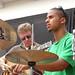 Guitarist Martin Wessalowski and drummer Eddie Hick in combo practice at Centro Giovanni, Certaldo Basso