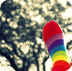 HBW!  (~aspidistra~) Tags: socks hearts foot 50mm rainbow bokeh manual picnik stripy seriese bokehtree ineedtoworkonmyabstryingtofocusmanuallywithmyfeetintheairwasnteasy myotherfootwassacrificedinthenameofbetterbokehandcomposition iwasgoingtogivetheheartbokeharestbutitfittedwithmyideafortoday