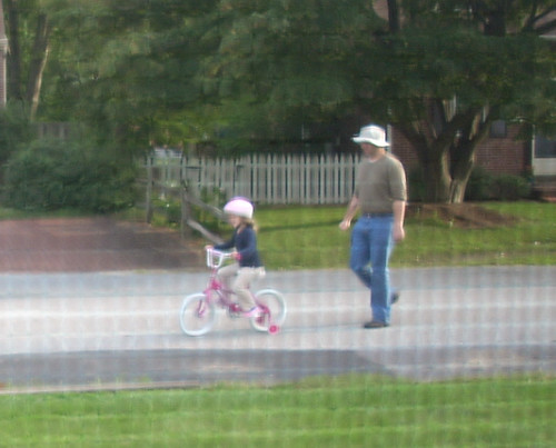 Willow riding her bike