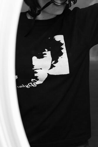 his t-shirt