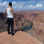 Horseshoe bend at the Glen Canyon, AZ