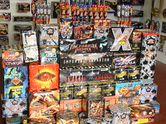 Pro Rocket Volley on the right (EpicFireworks) Tags: light fireworks guyfawkes firework rocket burst pyro sparks 13g epic pyrotechnics singleignition