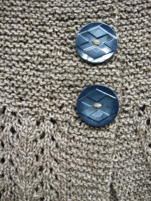 february lady, buttons detail