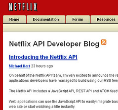 Netflix announces an API